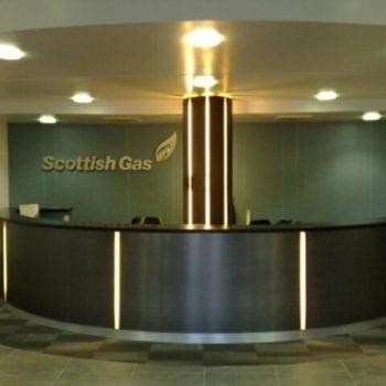 Decorated Reception Area